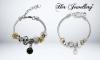 Βραχιόλι Pearl Charm σε Λευκό ή Μαύρο Χρώμα - 01